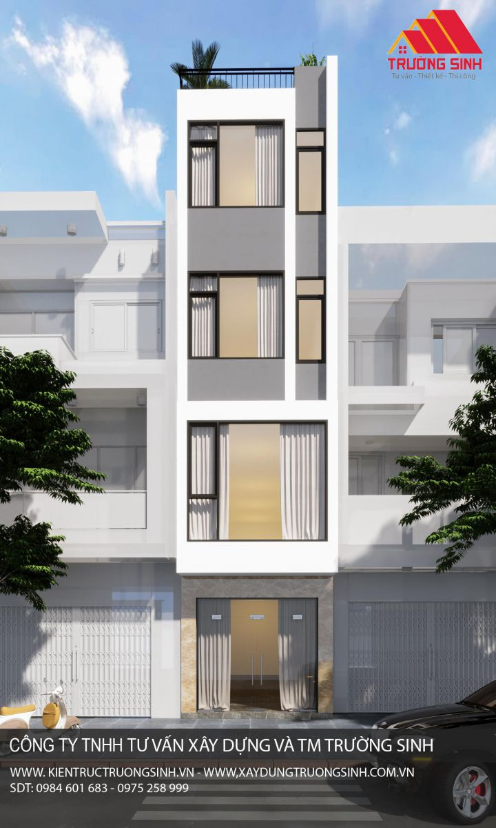 Dự án thiết kế, xây nhà trọn gói 4,5 tầng [CĐT: Anh Chương]  tại Đống Đa, Hà Nội