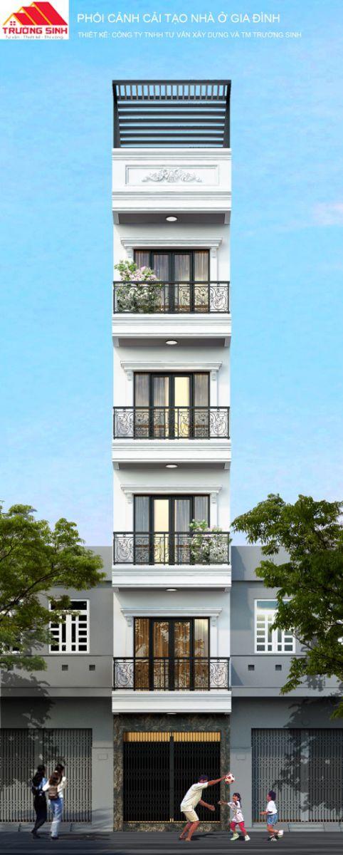 Siêu dự án thiết kế xây nhà trọn gói, sửa nhà trọn gói 5,5 tầng [CĐT chú Hoàng] tại Đống Đa-HN-1