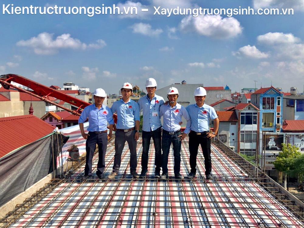 Dự án xây nhà trọn gói 4,5 tầng cho anh Sáng tại Hoài Đức, Hà Nội