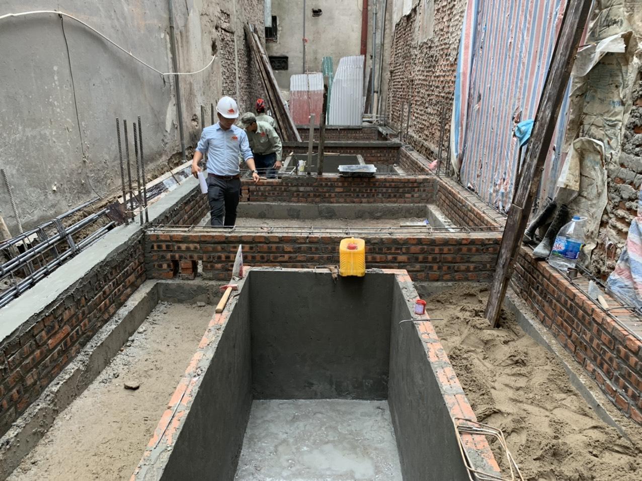 Dự án thiết kế, xây nhà trọn gói 4,5 tầng nhà anh Cường tại Đống Đa-HN