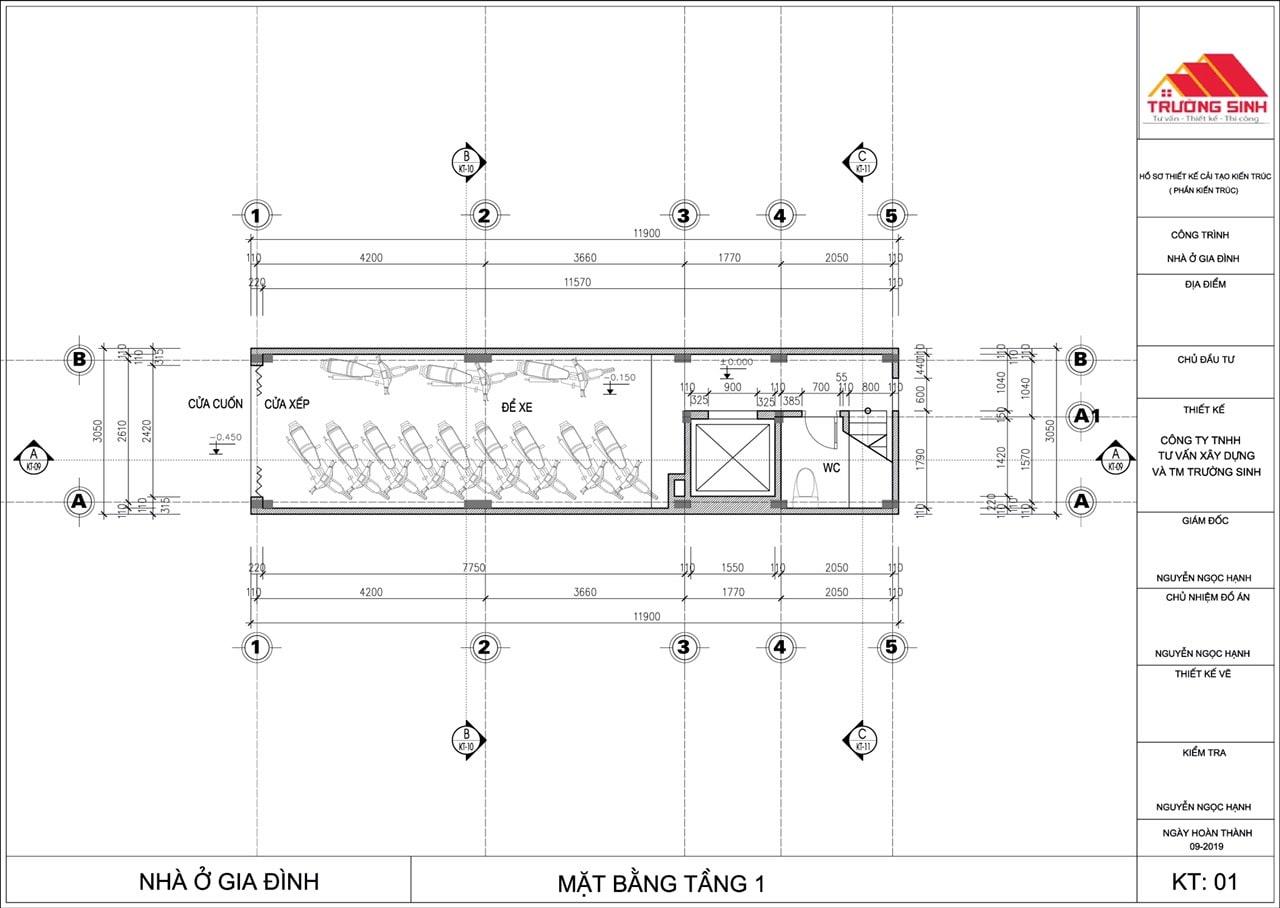 Siêu dự án thiết kế xây nhà trọn gói, sửa nhà trọn gói 5,5 tầng [CĐT chú Hoàng] tại Đống Đa-HN-2