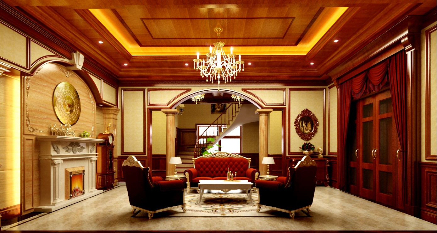Thiết kế nội thất biệt thự theo phong cách tân cổ -3