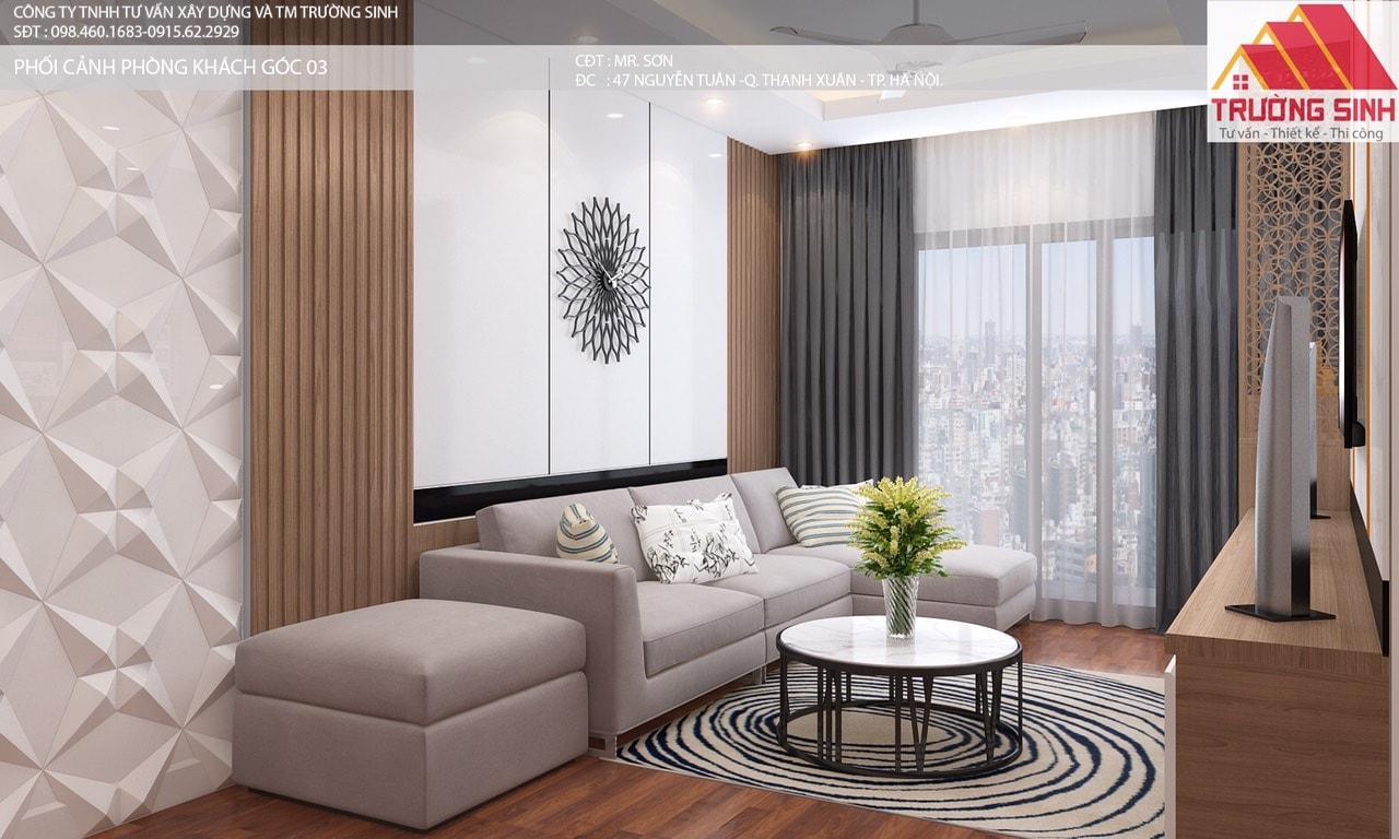 Thiết kế hoàn thiện sửa chữa chung cư số 47 Nguyễn Tuân, Thanh Xuân, Hà Nội